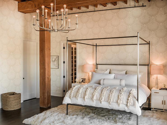 Arteriors Breck 12 Light Metal Chandelier. Bedroom Lighting. The bedroom lighting is Arteriors Breck 12 Light Metal Chandelier. #ArteriorsBreckMetalChandelier  Alexandra Kaehler Design.