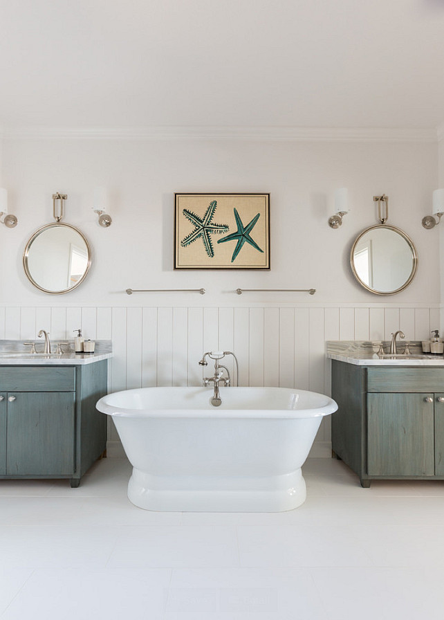 Arteriors Lander Iron Mirrors. Bathroom with Arteriors Lander Iron Mirrors. #ArteriorsLanderIron #Mirrors Laura U, Inc.