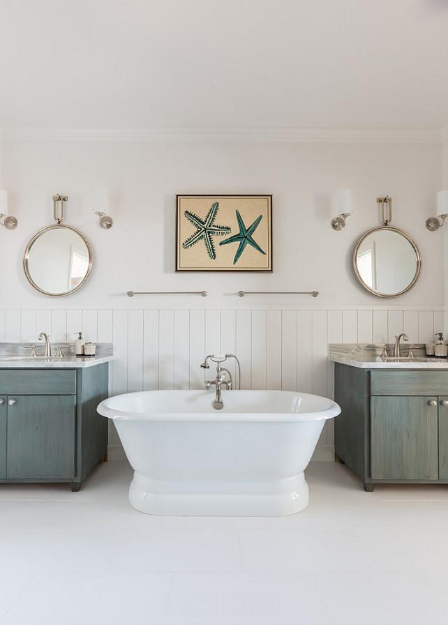 Arteriors Lander Iron Mirrors. Bathroom with Arteriors Lander Iron Mirrors. #ArteriorsLanderIron #Mirrors Laura U, Inc.