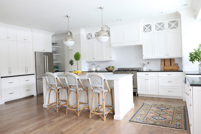 BM Simply White Oc-117 Color of the Year Benjamin Moore 2016 Kitchen designed by Studio McGee.