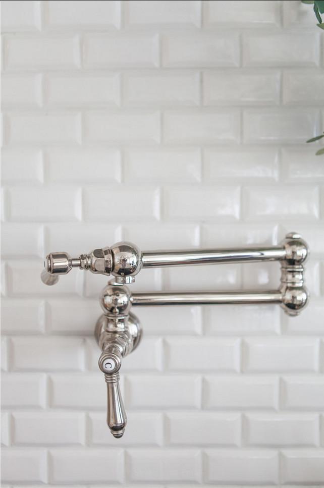 Backsplahs. Kitchen Backsplash Ideas. Beveled Subway Tile Backsplash.