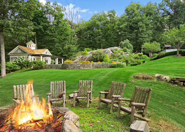 Backyard Fire Pit. Fire Pit Ideas. #FirePit Natural Fire Pit. Rustic Fire pit Significant Homes LLC.