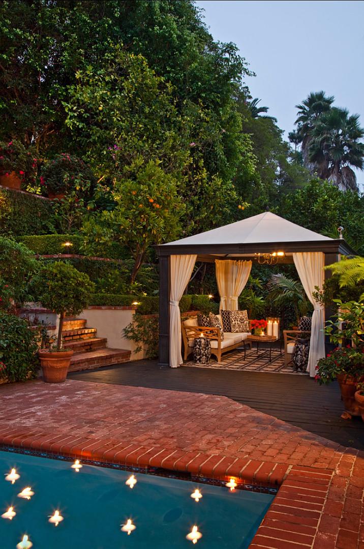Backyard Ideas. Backyard with pool ideas. Smith Firestone Associates.