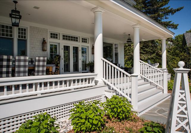 Backyard Ideas. Beautiful backyard with patio and coastal decor. #Backyard #Patio
