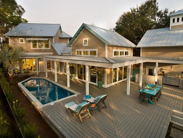Transitional Beach House - Home Bunch Interior Design Ideas on Coastal Backyard Ideas id=59542