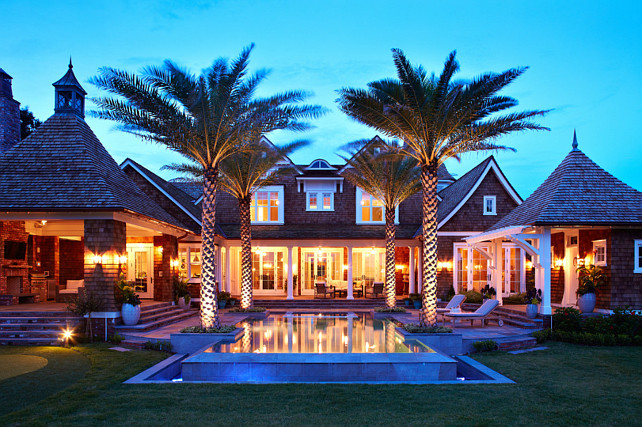 Backyard Ideas. Home Exterior Backyard #HomeExterior #Backyard #pool Andrew Howard Interior Design.