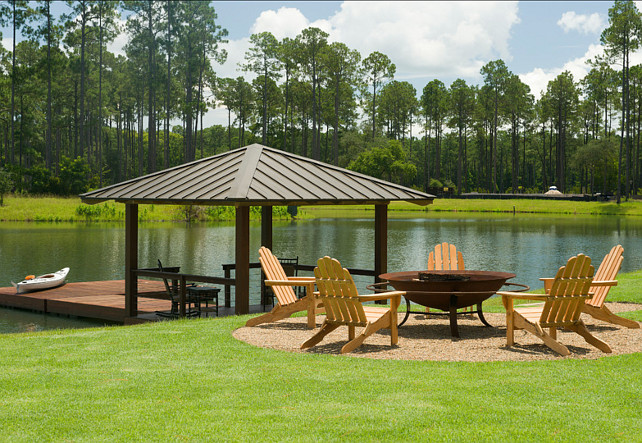 Backyard Ideas. This is a dream backyard with pond. #Backyard