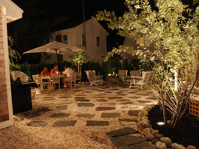 Backyard Lighting. Place outdoor lighting in your backyard to use it more often during the night. #Backyard #Lighting #Landscaping #LandscapingLighting OUTinDesign.