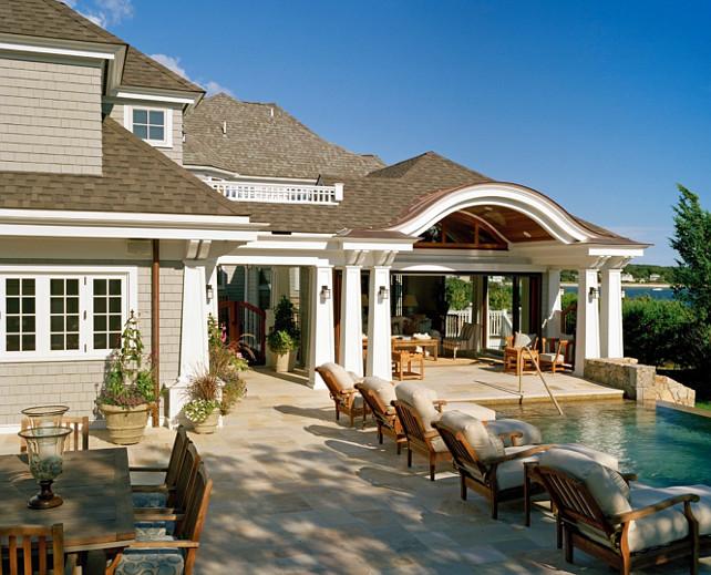 Backyard. Backyard Ideas. Backyard with pool. Deck pool. Patio Pool #Backyard #Pool Nancy McLaughlin Interiors