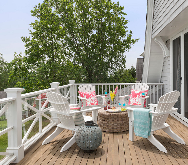 Balcony Furniture Design Ideas: Rhode Island Beach Cottage With Coastal Interiors
