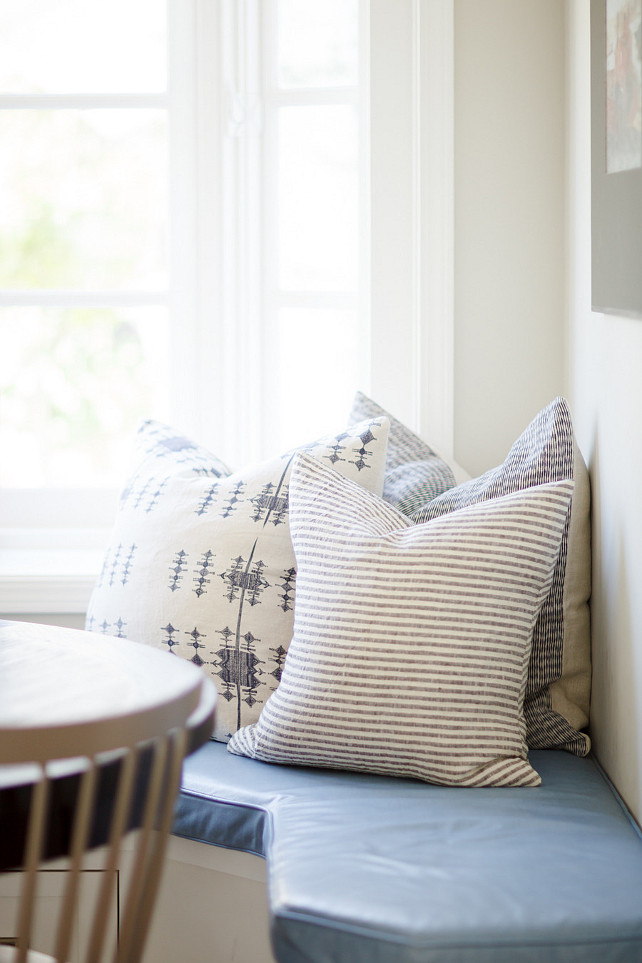 Banquette Pillow. Banquette Pillow Ideas. Banquette Pillow Fabric. #Banquette #Pillow Brooke Wagner Design.