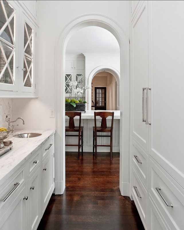 Off White Arched Kitchen Cabinets