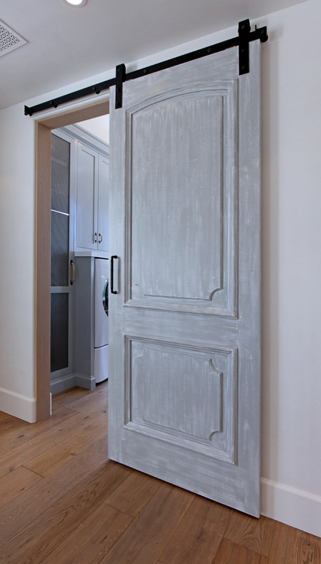 Barn Door Design Ideas. Barn Door Ideas. Interior Barn Door. Laundry Room Barn Door. #BarnDoor Brandon Architects, Inc.