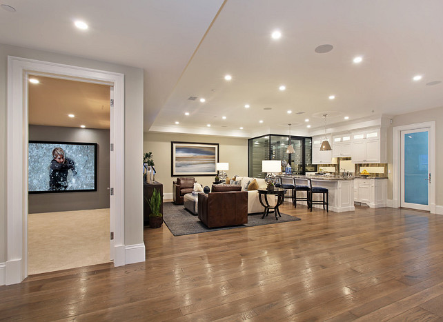 Basement Hardwood Floor. Basement Hardwood Floor Ideas. Hardwood flooring in basement. #Basement #HardwoodFloor Spinnaker Development.