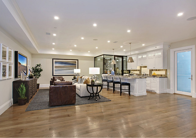 Basement Layout. Basement Layout Ideas. Spacious Basement Layout. This is the right man cave for the sophisticated man. #BasementLayout Spinnaker Development.