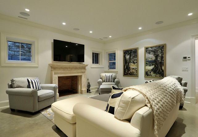 Basement Living Room. Basement Living Room Layout. #Basement #LivingRoom John Hummel and Associates.