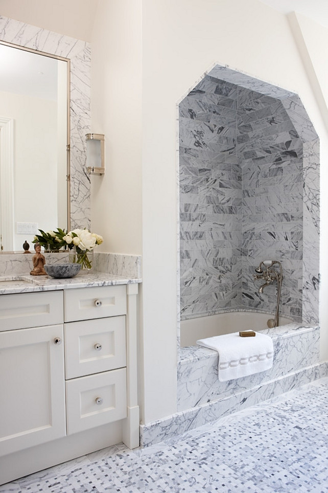 Bath Nook. Bathroom with bath nook. #Bathroom #BathNook Anne Hepfer Designs.