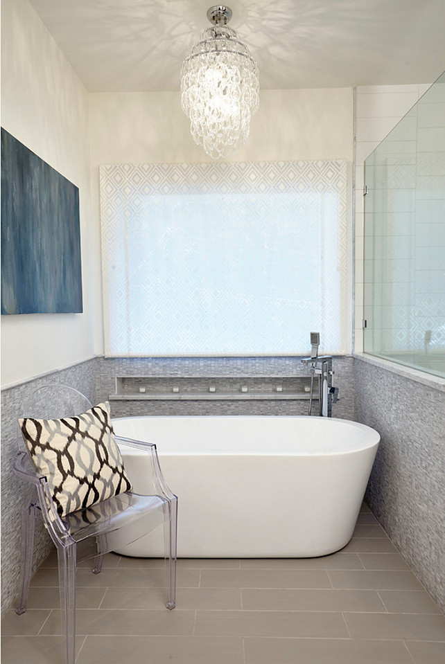 Bath nook. Freestanding bathtub in bathroom nook. Butter Lutz Interiors, LLC.
