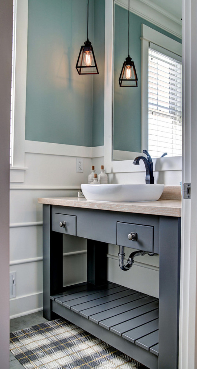 Design Bathroom Vanities Ideas ~ Ranch style home with transitional coastal interiors