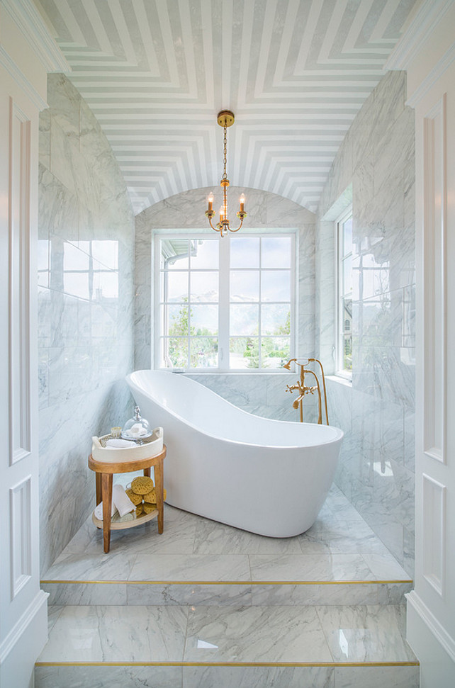 Bathroom Ceiling. Bathroom ceiling treatment ideas. Bathroom ceiling ideas. #Bathroom #Ceiling Joe Carrick Design.