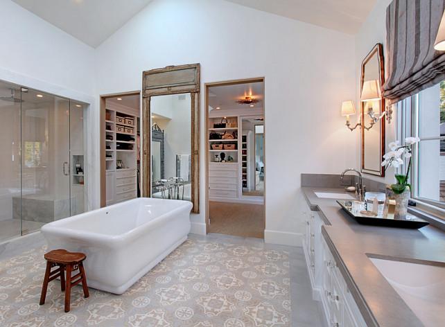 Bathroom Countertop. Gray Bathroom Countertop. #BathroomCountertop