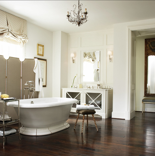 Bathroom Design Ideas. French Bathroom Design. This is a classic e very elegant French inspired bathroom. #French #BathroomDesign