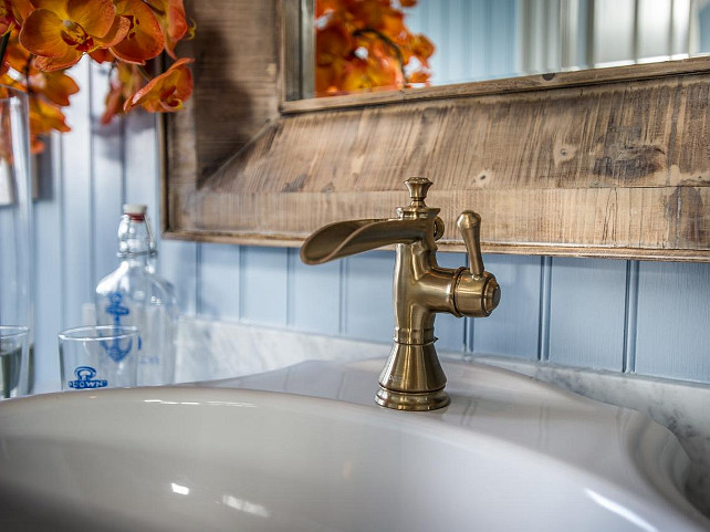 Bathroom Faucet Ideas. Bathroom faucet. Beautiful channel spout faucet in a bronze finish. #BathroomFaucet