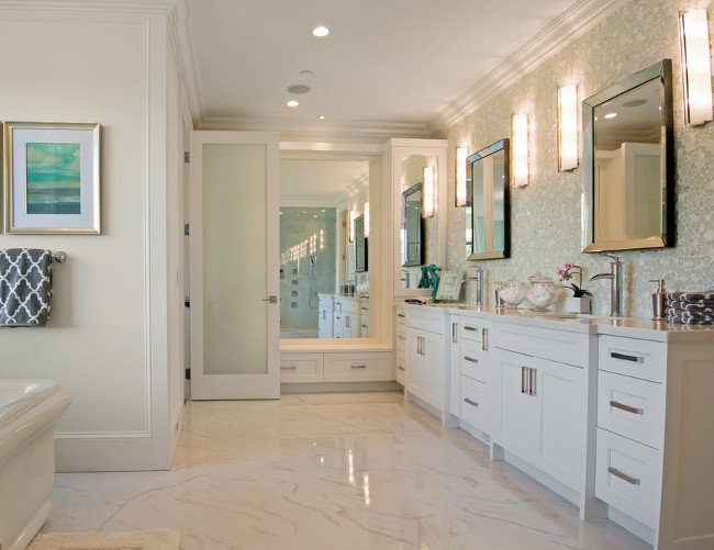 Bathroom Flooring. Bathroom onyx tile flooring. Bathroom with white onyx tile flooring. #Bathroom #onyx #tile #flooring Michael Grahame.