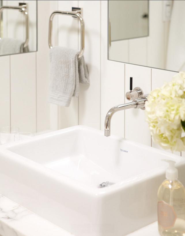 Bathroom Ideas. Bathroom Decor Ideas.  The plumbing fixtures are Lefroy Brooks and the sinks are Duravit.  #Bathroom #BathroomIdeas   Rasmussen Construction.