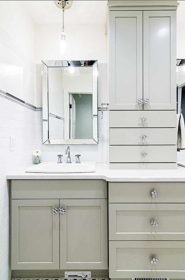 Bathroom Mirror Ideas. Affordable bathroom mirror. Mirror is $79 and its from Home Depot.