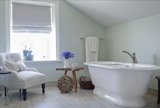 """Bathroom Paint Color. Bathroom Ideas. Paint Color: """"C2 Dorian Gray"""". LemonTree & Co. Interiors."""