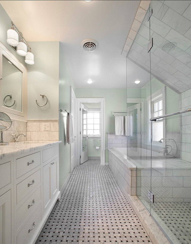 Bathroom Paint Color. Bathroom Ideas. Seafoam Bathroom Paint Color. #PaintColor #SeafoamPaintColor  sexton lawton architecture.