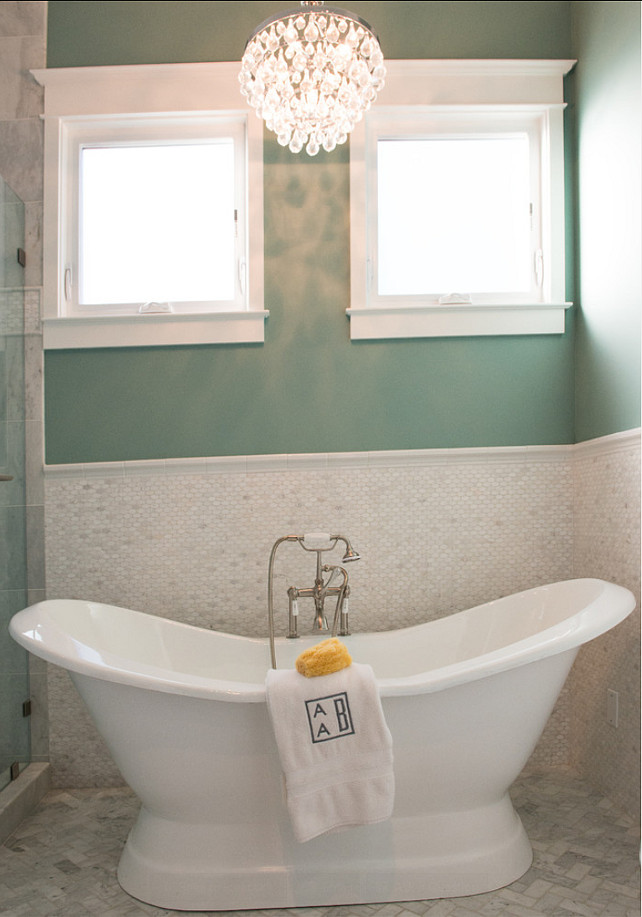 Bathroom Tiling Ideas. The tiling in this bathroom is Dal Tile Contempo Oval. #Bathroom #tiling