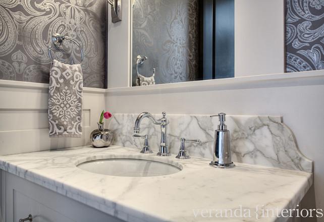 Bathroom Vanity Countertop. Bathroom honed Calacatta Gold Countertop. #BathroomCountertop #BathroomVanityCountertop #HonedCalacattaGold #BathroomCountertop
