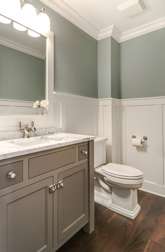 Top Bathroom Wainscoting Pin Bathroom Wainscoting. Bathroom Wainscoting. Bathroom wainscoting ideas. Bathroom wainscoting height. Bathroom with walnut flooring and white wainscoting. #Bathroom #Wainscoting Redstart Construction.