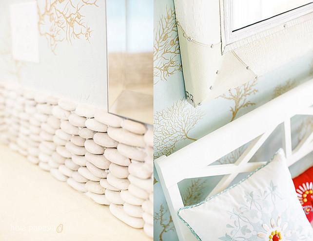 Bathroom wallpaper and bathroom backsplash