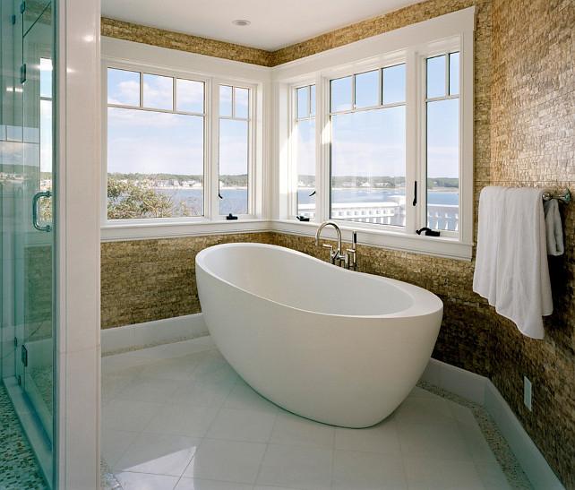 Bathroom. Bathroom Wall Tiling Ideas Bathroom Ideas. Bathroom with Mother of Pearl Tiles. #Bathroom Nancy McLaughlin Interiors.