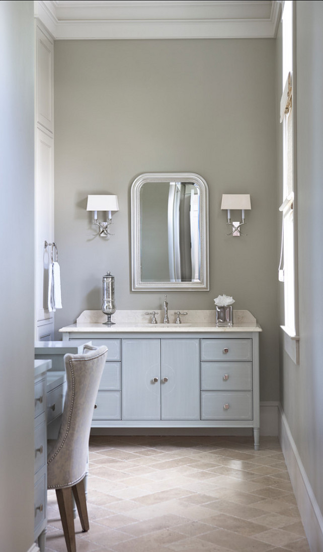 Bathroom. Bathroom Ideas. Elegant Gray Bathroom Design. #Bathroom #BathroomIdeas #BathroomDesign