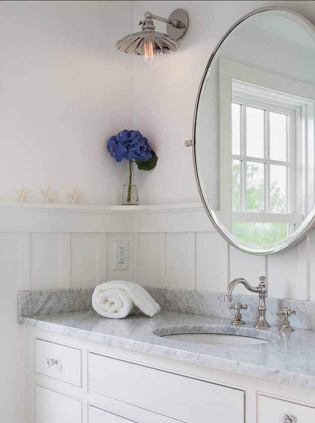 simplicity is always relaxing to me in this bathroom beautiful white