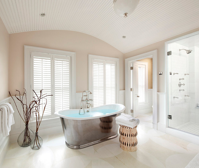 Bathroom. Bathroom with painted floors. Painted Floor Bathroom Ideas. #Bathroom Jeannie Balsam LLC