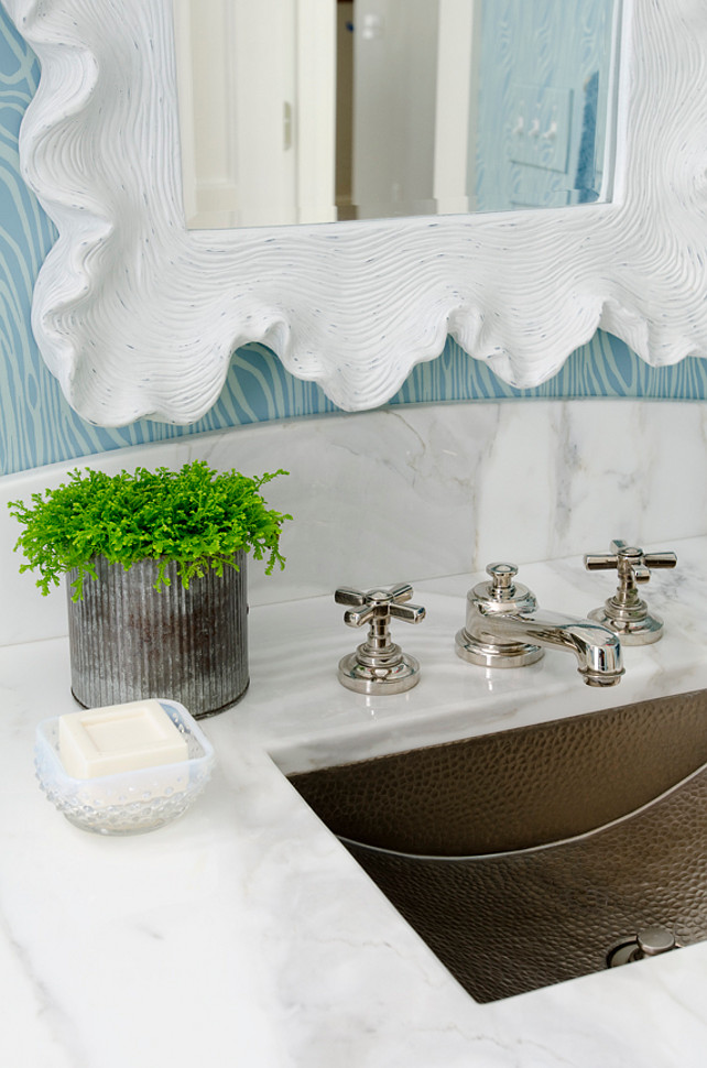 Bathroom. Bathroom. Bathroom Countertop. Bathroom mirror. Bathroom sink. Bathroom faucet. Bathroom wallpaper. Bathroom marble. Bathroom vanity. Bathroom cabinet. #Bathroom Kristina Crestin Design.