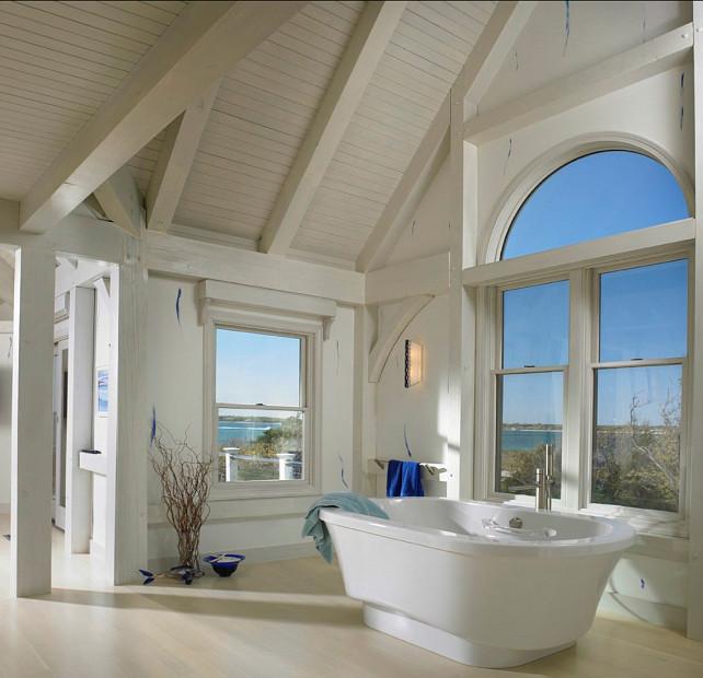 Bathroom. Coastal Bathroom Ideas. Incredible coastal bathroom with ocean views. #Bathroom #CoastalBathroom #BathroomIdeas
