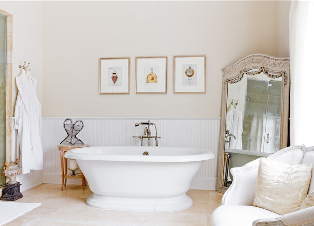Bathroom. The bathtub in this bathroom is the Kohler Vintage bath. #Bathroom #Bathtub
