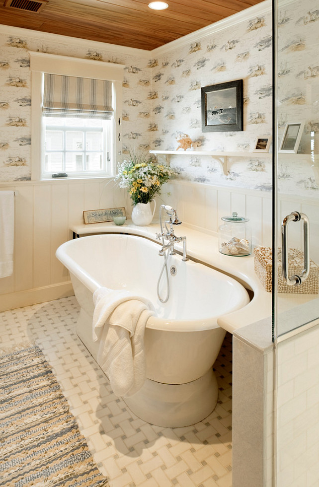 Bathtub Surround Ideas. Freestanding Bathtub Surround. #BathtubSurround