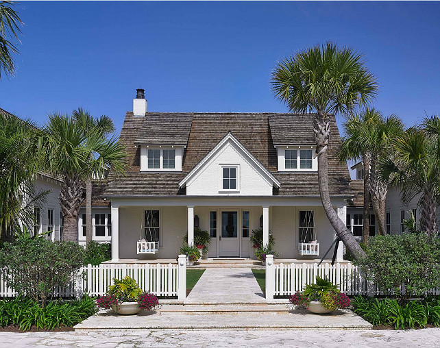 Beach Cottage. Cottage Exterior. Beach Cottage Exterior. White Beach Cottage Exterior. #Cottage #Exterior #BeachCottage #BeachCottageExterior #WhiteBeachCottage Cronk Duch Architecture.