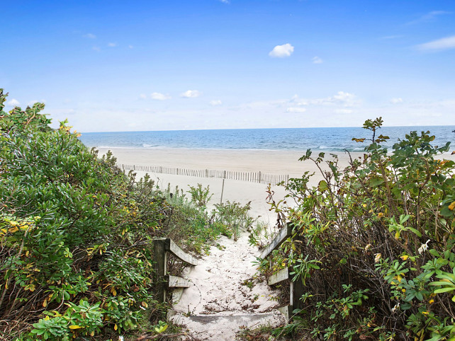 Beach Fence in the Hamptons.  Via Sotheby's Homes.