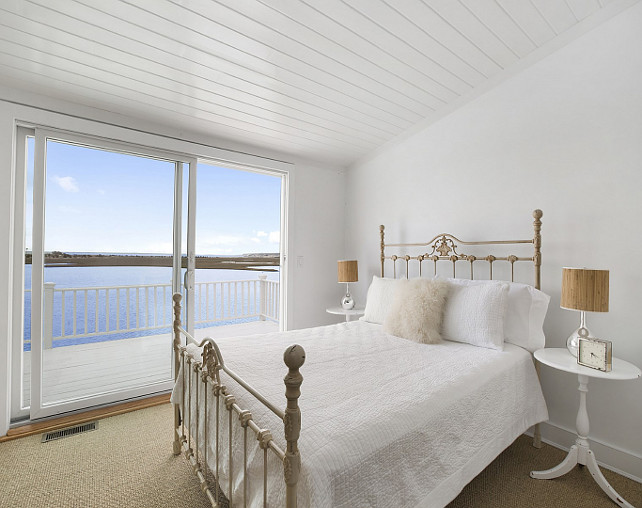 Beach House Bedroom. Bedroom with ocean view. White bedroom with ocean view. #Bedroom #OceanView #BeachHouseBedroom Via Sotheby's Homes.