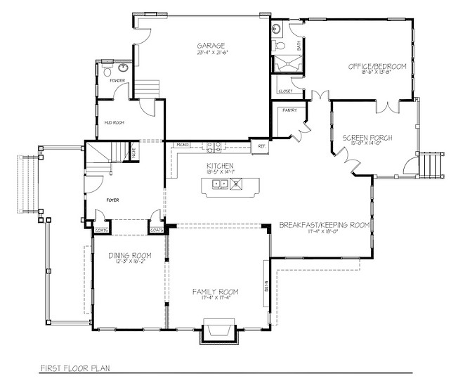 Beach House Floor Plan Ideas. Open Layout Beach House Floor Plan. Open Concept Beach House Floor Plan. Open Floor Plan. #BeachHouse #FloorPlan #OpenFloorPlan