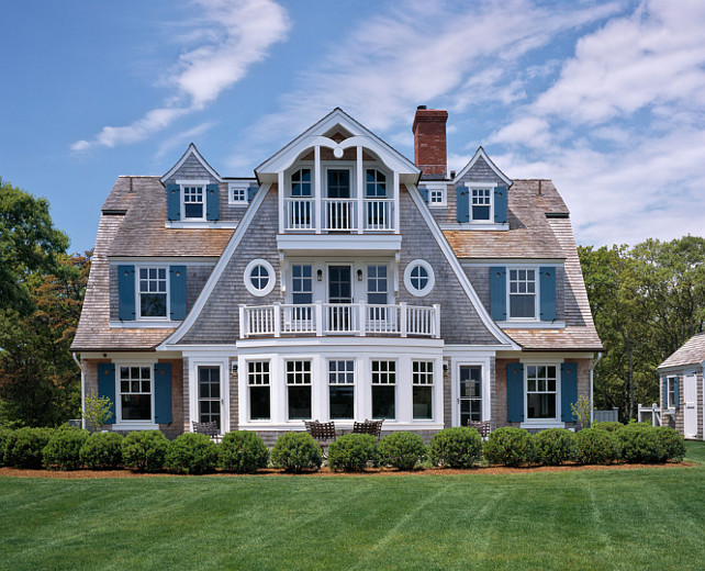 Beach House Ideas. Shingle Beach House Design Ideas #BeachHouse #ShingleBeachHouse #ShingleHomes Polhemus Savery DaSilva.