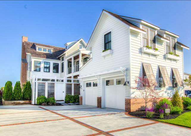 Beach House. Transitional Beach House with coastal Interiors. #BeachHouse #Interiors